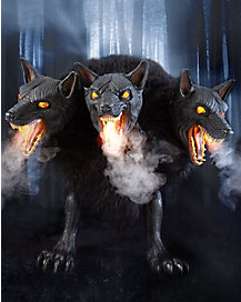 2.5 Ft Cerberus Three Headed Dog Animatronics - Decorations
