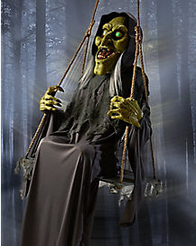 2.5 Ft Swinging Swamp Hag Animatronics -  Decorations