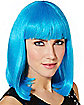Bright Blue Pageboy Wig