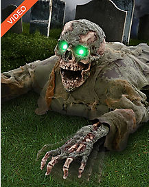 2 Ft Grave Grabber Corpse Skull Animatronics - Decorations