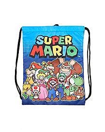 Super Mario Group Cinch Bag