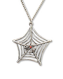 Spiderweb Stone Necklace