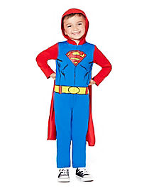 Toddler One Piece Hooded Superman Costume - DC Comics