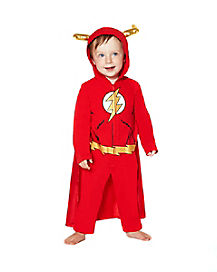 Toddler Hooded Coverall Flash Costume - DC Comics