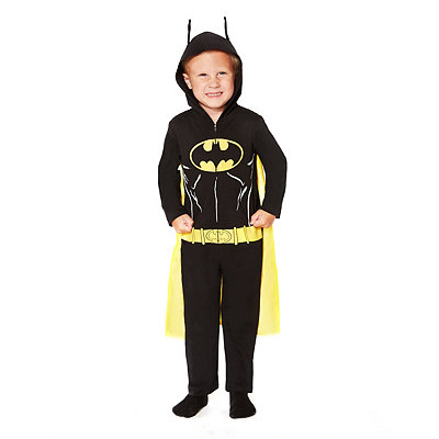 Batman Black Hooded Coverall Toddler Costume
