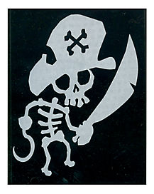 Pirate Skeleton Car Decal
