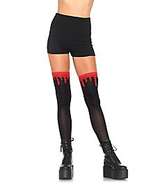 Blood Drip Over The Knee Socks