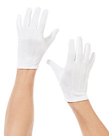 White Mens Gloves