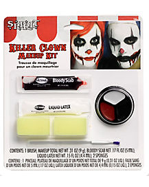 Adult Scary Clown Makeup Kit