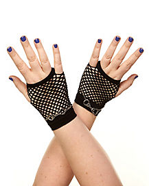Handcuff Fishnet Gloves