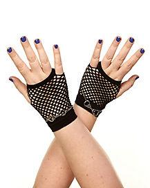 Handcuff Fishnet Gloves