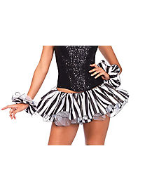 Black and White Striped Satin Tutu