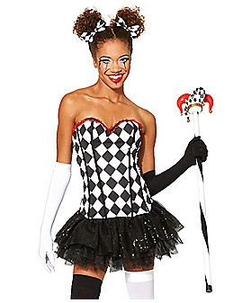 Adult Black and White Checkered Corset