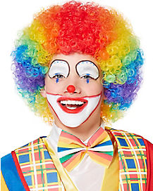 Kids  Rainbow Clown Afro Wig