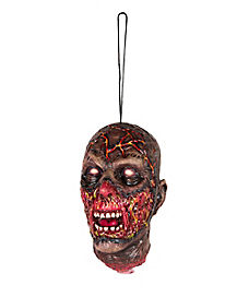 Burnt Zombie Hanging Head - Decorations