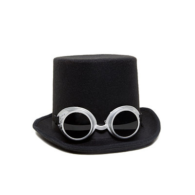 Vintage Inspired Halloween Costumes Steampunk Top Hat $16.99 AT vintagedancer.com