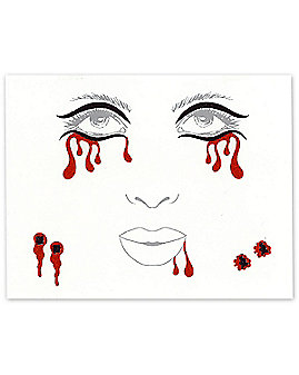 Vampire Face Tattoo Decals