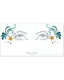 Mermaid Face Tattoo Decals