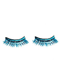 Turquoise Tinsel False Eyelashes