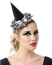 Mini Witch Web Hat