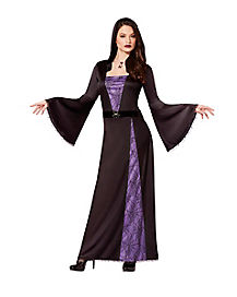 Adult Floor Length Spiderweb Sorceress Witch Costume