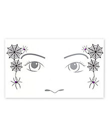 Kids Witch Face Tattoo Decal