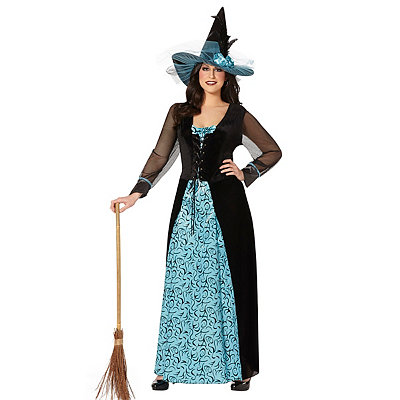 Womens Plus Size Maiden Witch Costume