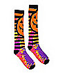 Tie Dye Pumpkin Knee High Socks