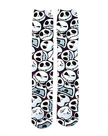 Nightmare Before Christmas Jack Face Knee Socks