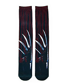 Freddy Hand Knee High Socks - Nightmare on Elm Street