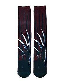 Freddy Hand Knee High Socks - Nightmare on Elm Street