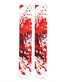 Blood Splatter Knee High Socks
