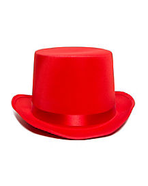 Red Deluxe Top Hat