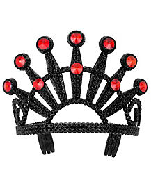 Black Tiara with Red Stones