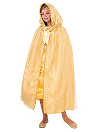 Kids Gold Royal Princess Cape