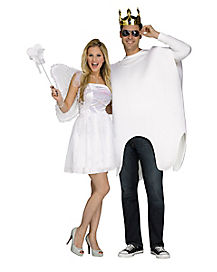 Adult Tooth and Tooth Fairy Couples Costume