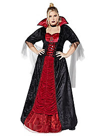 Adult Victorian Vampiress Plus Size Costume