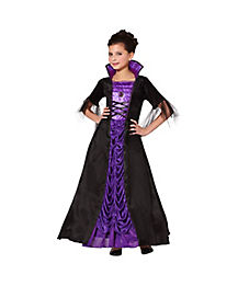 Kids Gothic Vampire Princess Costume