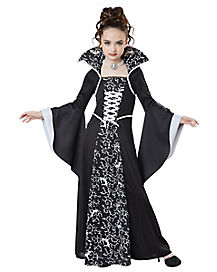 Kids Midnight Vampire Girls Costume