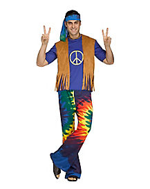 Adult Groovy Guy Hippie Costume