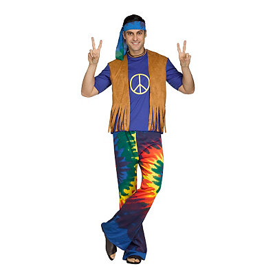 Adult Groovy Guy Hippie Costume