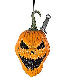 Pumpkin Knife Hanging Head