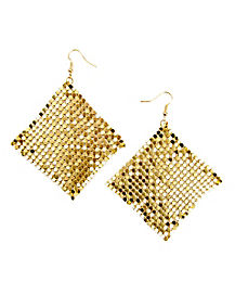 70's Gold Mesh Earrings