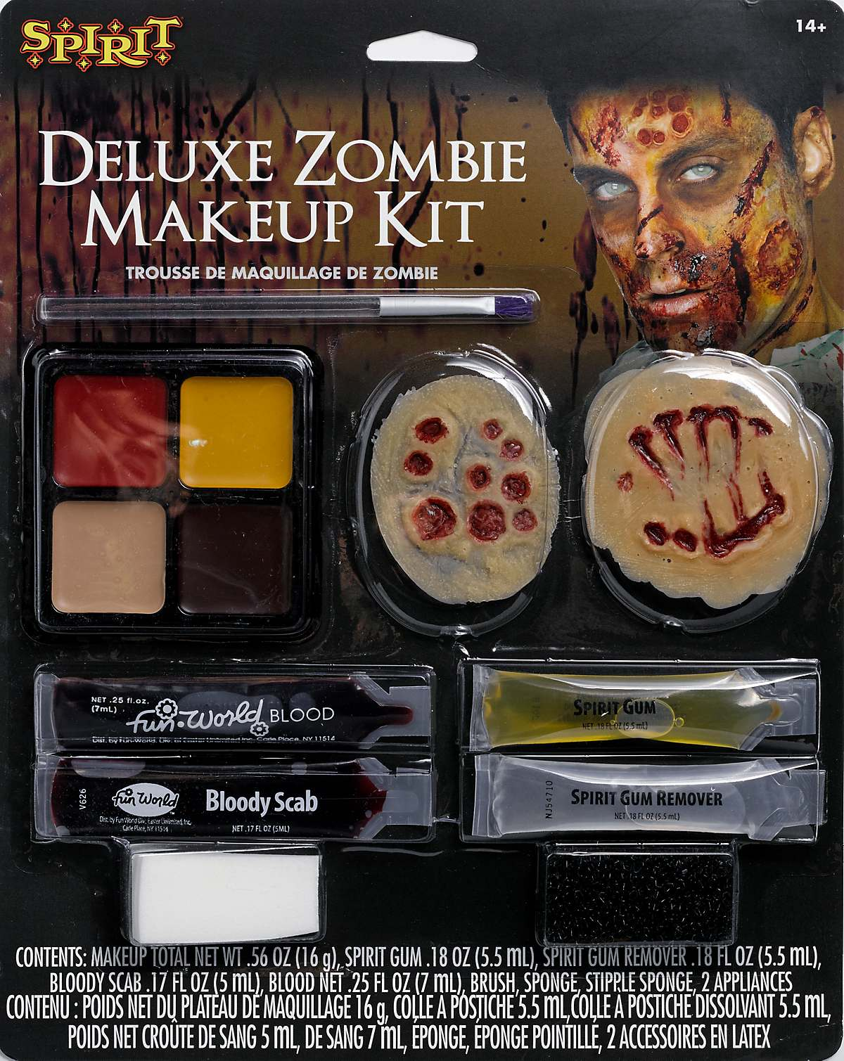 Zombie makeup character kit