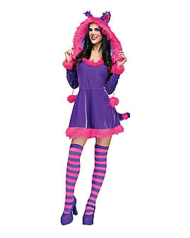 Adult Furry Cheshire Cat Costume