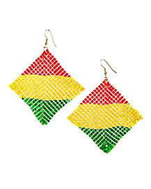 Mesh Rasta Earrings