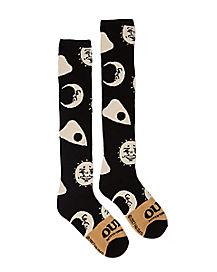 Glow In the Dark Ouija Board Knee High Socks - Hasbro