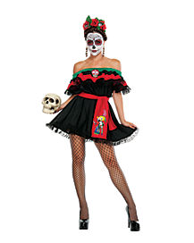 Adult Senorita Death Plus Size Costume