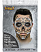 Day of the Dead Face Tattoo Decal