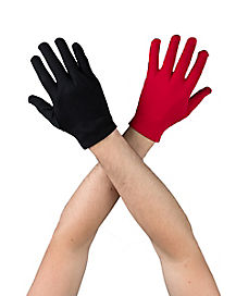 Black and Red Male Gloves